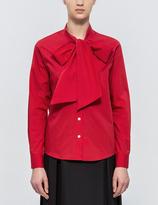 MAISON KITSUNÉ Cotton Jin Lavalliere Shirt