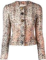 Christopher Kane boxy woven jacket - women - Silk/Wool - 42