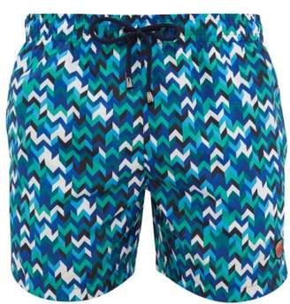 Missoni Mare - Arrow Print Swim Shorts - Mens - Blue Multi