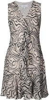 Derek Lam 10 Crosby tiger print ruffled dress - women - Silk - 0