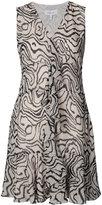 Derek Lam 10 Crosby tiger print ruffled dress