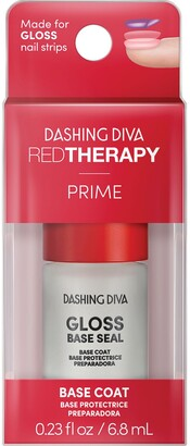 Dashing Diva Nail Therapy Red Therapy Base Seal Treatment for Gloss