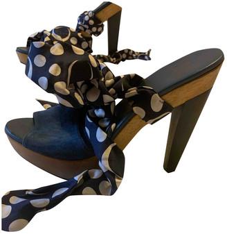 Diane von Furstenberg Blue Suede Heels