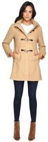 Vince Camuto Sherpa Hood Toggle Closure Wool Coat L8311