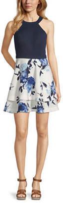 Speechless Juniors Sleeveless Floral Fit & Flare Dress