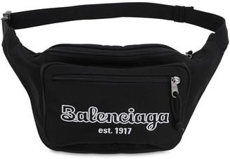 Balenciaga Estb Logo Nylon Belt Bag