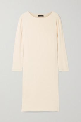 The Row Larina Crepe Dress - Cream