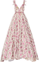 Luisa Beccaria Floral Embroidered Ball Gown
