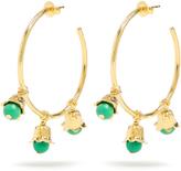 Aurelie Bidermann Lily of the Valley gold-plated hoop earrings