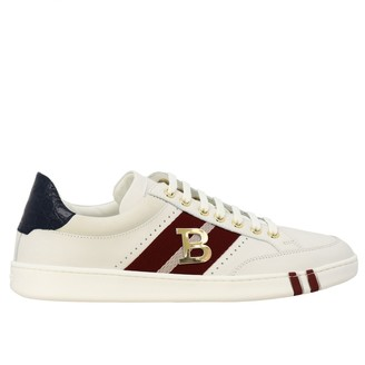 Bally Wilsy Sneakers In Suede Leather And Canvas With Metallic Logo