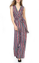 Donna Morgan Metallic Stripe Jumpsuit