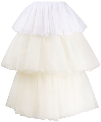 MM6 MAISON MARGIELA two-tone tulle tiered skirt