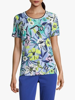 Betty Barclay Floral T-Shirt, Blue/Green