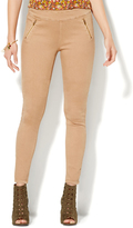 New York & Co. Classic Camel Zip-Accent SuperStretch High-Waist Leggings