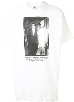 Fake Alpha Vintage Elvis Presley and BB King print T-shirt
