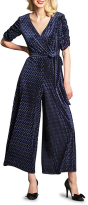 Eva Franco Catalina Short-Sleeve Wide-Leg Jumpsuit