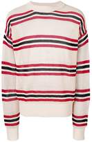 Laneus striped long-sleeve sweater