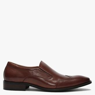 Daniel Xone Brown Leather Brogue Loafers