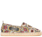 Etro African print espadrilles - men - Leather/Straw/Canvas/rubber - 42