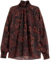 H&M Patterned Blouse - Black - Ladies