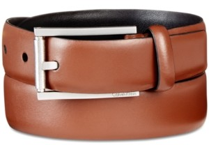 Calvin Klein Men's Roller-Buckle Leather Belt