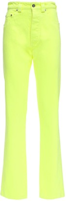 Kwaidan Editions High Waist Neon Cotton Denim Jeans