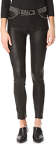 L'Agence Aurelie Studded Leather Pants