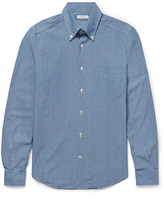 Boglioli - Slim-fit Button-down Collar Cotton-chambray Shirt