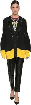 N°21 Bi-Color Cotton Cardigan