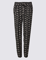 M&S Collection Printed Tapered Leg Trousers