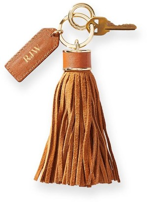 Mark And Graham Oversized Leather Tassel Keychain