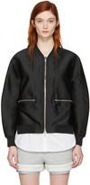 3.1 Phillip Lim Black Trompe Loeil Bomber Jacket
