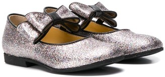 Gallucci Kids bow detail ballerinas