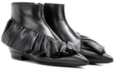 J.W.Anderson Ruffle Leather Ankle Boots
