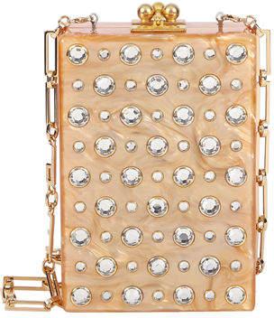 Edie Parker Carol Metallic Stud Clutch Bag
