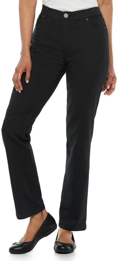 Croft & Barrow Petites Super Stretch Straight-Leg Pants