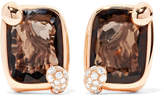 Pomellato Ritratto 18-karat Rose Gold, Quartz And Diamond Earrings