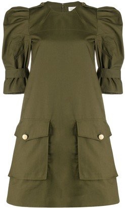 Alexander McQueen Military Style Mini Dress