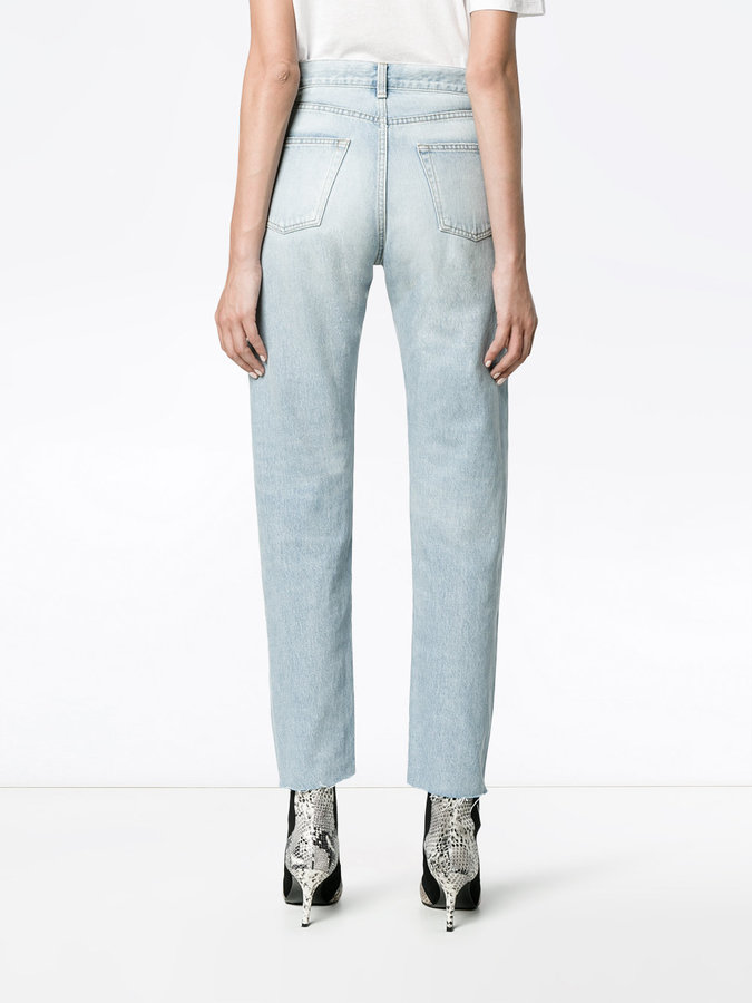 Saint Laurent Blue High Waisted Slim Jeans