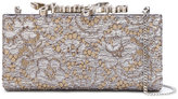 Jimmy Choo Celeste lace clutch - women - Leather/Metallic Fibre/metal - One Size