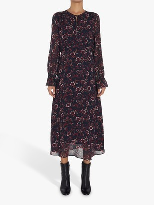 Tommy Hilfiger Amia Floral Midi Dress, Wildfloral/Lakeside