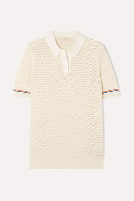 Tory Burch Cotton Polo Shirt - Ivory