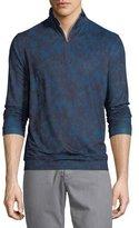 Peter Millar Perth Stretch Camouflage Quarter-Zip Sweater, Slate