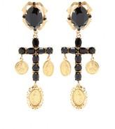 Dolce & Gabbana CRYSTAL CROSS EARRINGS