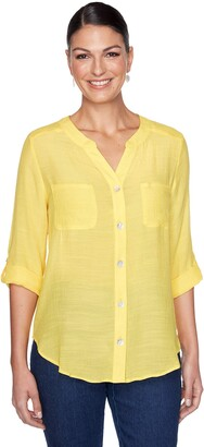 Ruby Rd. Women's Plus Size Gauze Top