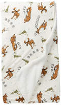 PJ Salvage Velour Moose & Bear Blanket