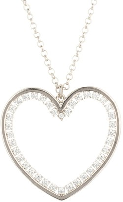 Latelita Heart Large Pendant Drop Necklace Silver