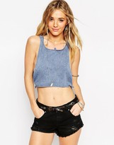Asos Crop Tank With Tie Sides