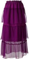 Sonia Rykiel layered sheer midi skirt