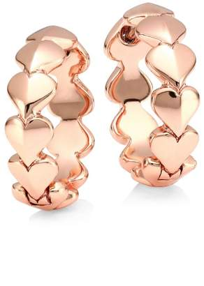 Kate Spade 12K Goldplated Heart Huggie Hoop Earrings